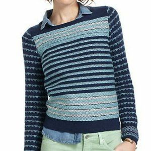 Anthropologie Sparrow Striped Crew Neck Sweater
